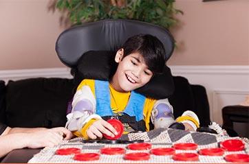 boy playing a game